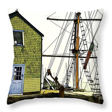 Rockport Harbor Throw Pillow