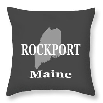 Throw Pillow featuring the photograph Rockport Maine State City And Town Pride  by Keith Webber Jr