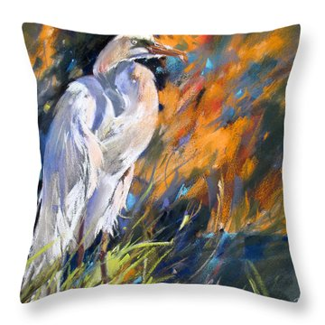 Throw Pillow featuring the painting Rockport Sentinal by Rae Andrews