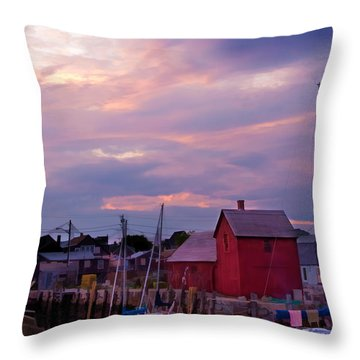 Throw Pillow featuring the photograph Rockport Sunset Over Motif #1 by Jeff Folger