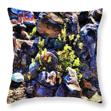 Rocks 10 Throw Pillow