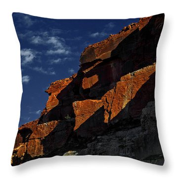 Sky And Rocks Throw Pillow by Alex Galkin