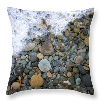 Rocks And Pebbles Throw Pillow by Stephanie Troxell