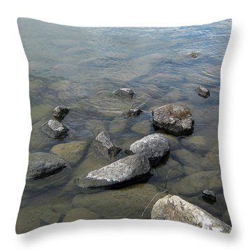 Rocks And Water Too Throw Pillow