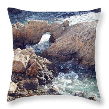 Rocks At Montana De Oro Throw Pillow
