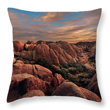 Rocks At Sunrise Throw Pillow