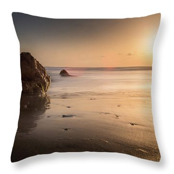Rocks At Sunset 3 Throw Pillow