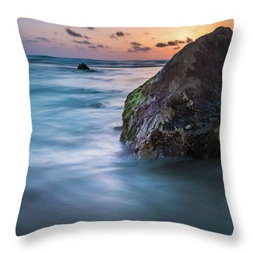 Rocks At Sunset 4 Throw Pillow