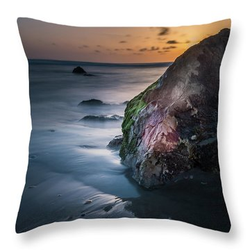 Rocks At Sunset Throw Pillow