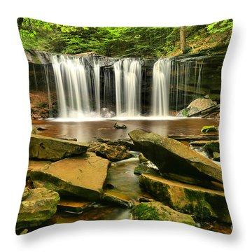 Rocks Below Oneida Throw Pillow