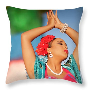 Cathy Rocks Throw Pillow