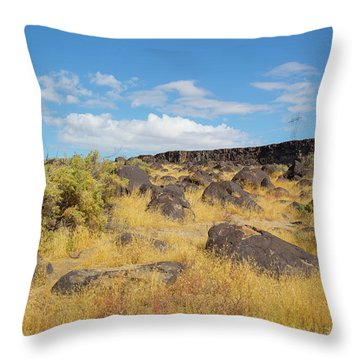 Rocks Celebration Park Idaho Throw Pillow