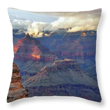 Rocks Fall Into Place Throw Pillow