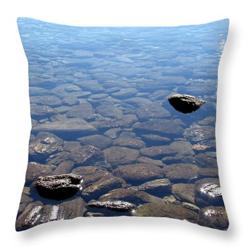 Rocks In Calm Waters Throw Pillow