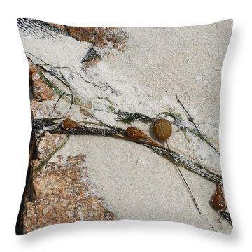 Rocks Longside Throw Pillow by Kathleen Grace