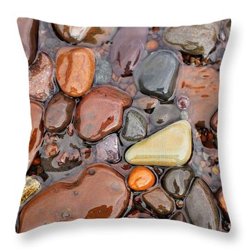Rocks Of Lake Superior 12 Throw Pillow