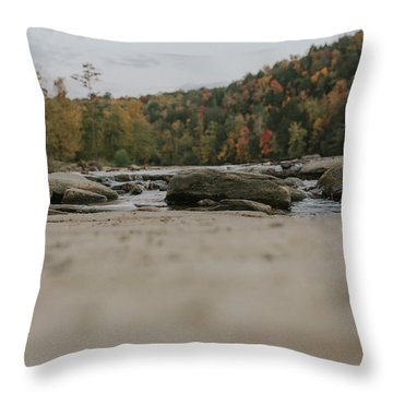 Rocks On Cumberland River Throw Pillow