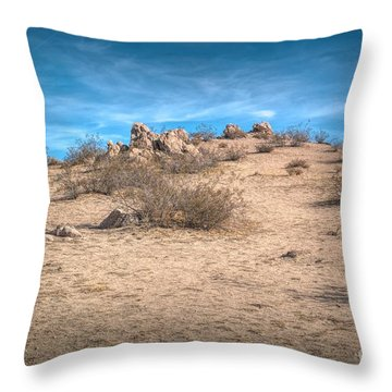 Rocks On The Hill Throw Pillow