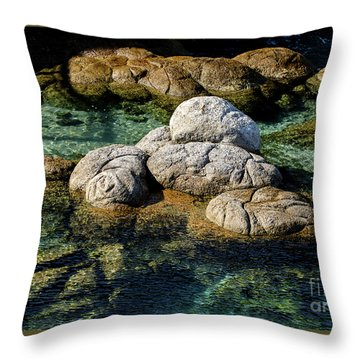 Rocks Resembling Loaves Of Bread Throw Pillow
