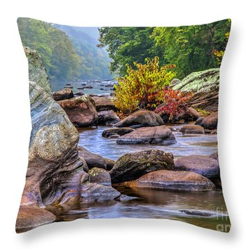 Throw Pillow featuring the photograph Rockscape by Tom Cameron