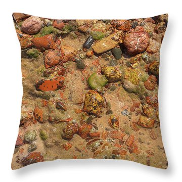 Rocky Beach 5 Throw Pillow