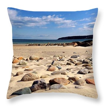 Rocky Beach Throw Pillow