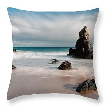 Rocky Beach On Sango Bay Throw Pillow