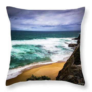 Throw Pillow featuring the photograph Rocky Coast by Perry Webster