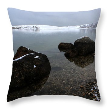 Rocky Cove Port Jefferson New York Throw Pillow by Bob Savage