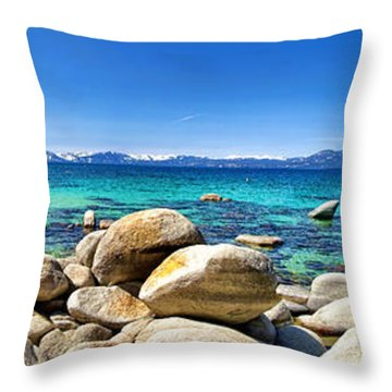 Rocky Cove Sand Harbor Throw Pillow