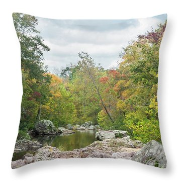 Rocky Creek Shut-ins Throw Pillow by Julie Clements