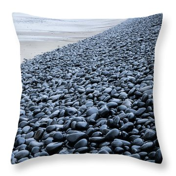 Throw Pillow featuring the photograph Rocky Falcon Cove by Tim Newton