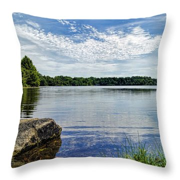 Rocky Fork Lake Throw Pillow by Cricket Hackmann