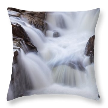 Throw Pillow featuring the photograph Rocky Gorge Falls by Michael Hubley