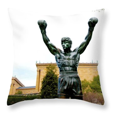 Rocky I Throw Pillow by Greg Fortier