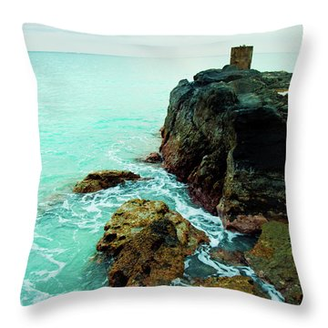 Rocky Landing Throw Pillow