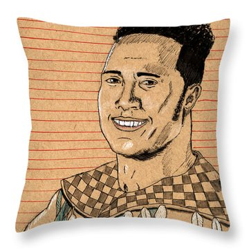 Rocky Maivia Throw Pillow