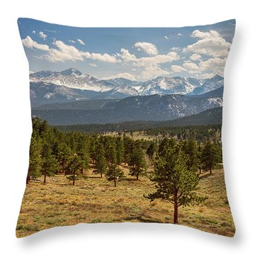 Rocky Mountain Afternoon High Throw Pillow by James BO Insogna