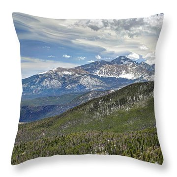 Throw Pillow featuring the photograph Rocky Mountain Cloudscape by Martin Konopacki