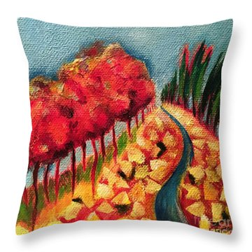 Rocky Mountain Throw Pillow by Elizabeth Fontaine-Barr