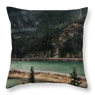 Rocky Mountain Foothills Montana Throw Pillow by Kyle Hanson