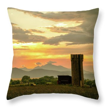 Throw Pillow featuring the photograph Rocky Mountain Front Range Country Landscape by James BO Insogna