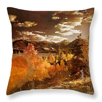 Rocky Mountain Gold 2015 Throw Pillow