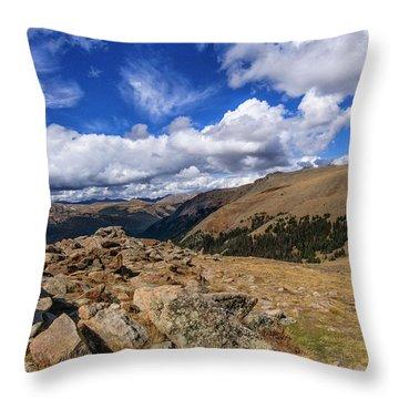 Rocky Mountain National Park Colorado Throw Pillow