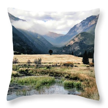 Rocky Mountain National Park Throw Pillow
