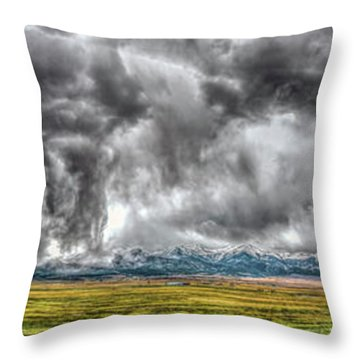 Rocky Mountain Panorama Hdr Throw Pillow