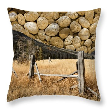 Throw Pillow featuring the photograph Rocky Mountain Sky by John Stephens