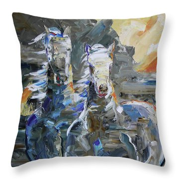 Rocky Mountain Sunrise Throw Pillow