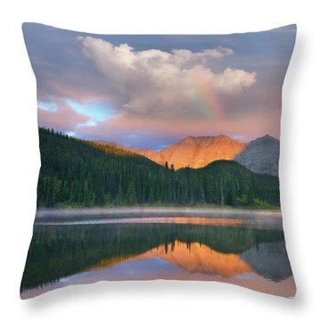 Rocky Mountain Throw Pillow by Tim Fitzharris