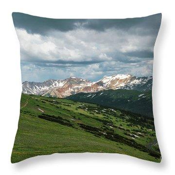 Rocky Mountain View Throw Pillow